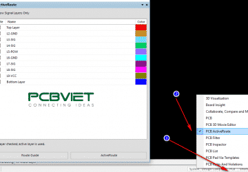 Sử dụng tính năng ActiveRoute trong Altium Designer 17
